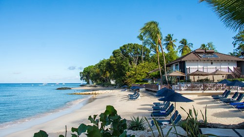 The beach at Sandpiper, luxury holidays Barbados