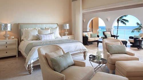 Master bedroom with a view at Saint Peter's Bay, luxury holidays Barbados