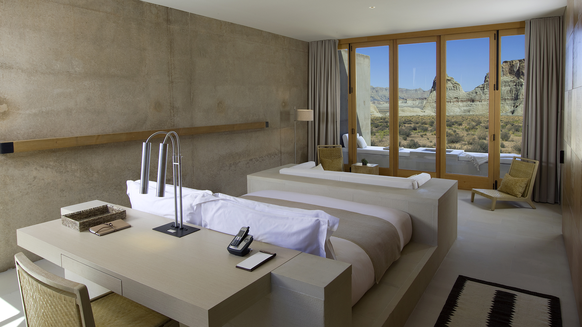 Amangiri suite closed doors