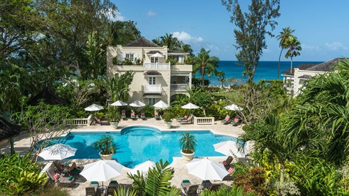 The pool at Coral Reef Club, luxury holidays Barbados