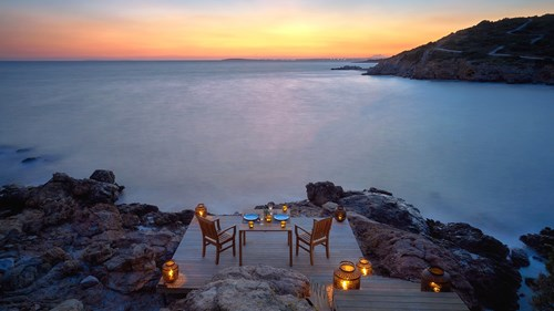 Candle light dinner at Six Senses Kaplankaya