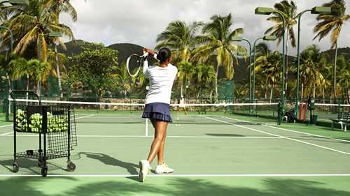 Curtain Bluff, Tennis at Curtain Bluff